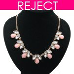 RD0404-Reject Design RD0404 - Pink crystals hoker necklace