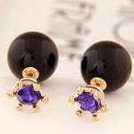 C11050985 Black purple beads korea round bead accessories shop