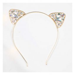 a-SY-FG041 Crystal Cat Ears Golden Hairband Fashion Accessories