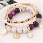 C11054825 Purple beads charms princess korean bracelet