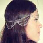 A-ZL P105190 Silver layer headchain hair accessories malaysia