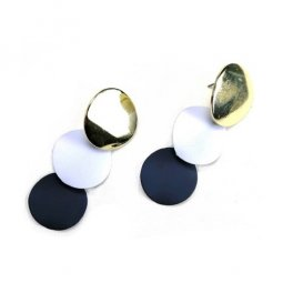 A-TT-UK-2 Gold white dark blue circle earstud