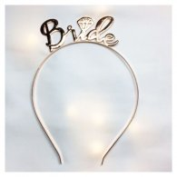 A-JF-FG-1025 Bronze Diamond Wedding Bride Wordings Hairband