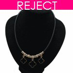 RD0332- Reject Design RD0332- Black Choker Necklace