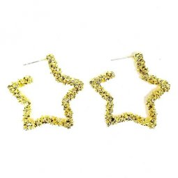 A-TT-C600 STAR Gold Elegant Pretty Simple Earrings Malaysia