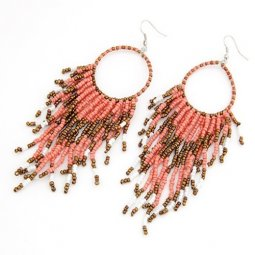 C11032385 Bohemian Beads Elegant Hook Earrings