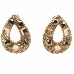 C10040844 Shiny crystals bead dinner korean earstuds shop