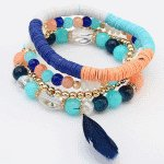 P119885 Colourful feather korean elastic bracelet malaysia shop