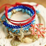 C11022470 Colourful seashell charms korea bracelet bangle online