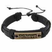 C081101136 Vintage achiever black belt friendship bracelet