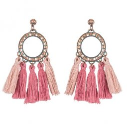 A-KJ-E020486mb Brown Purple Vintage Tassel Earstuds Wholesale
