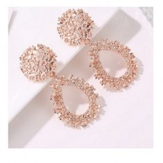 A-JW-x19041031rosegold ore ogre classic korean earrings