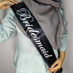 A-PT-UK1 Black Bridemaids Wedding Sashes Party