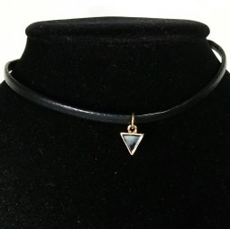 A-UK-010 Black Triangle Grunge Style Choker