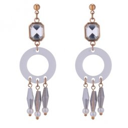 P133026 Crystal Shiny Geometry Beads Korean Style Earstuds Shop