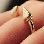 A46291 Silver arrow korean wholesale tiny ring accessories