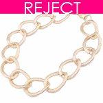 RD0005 - Reject Design Gold chain Choker Necklace