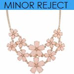 P108985 Pink spring flowers korean choker necklace shop