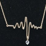 B-K-MU Hearbeat gold heart charm korean short necklace