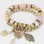 C10123165 Vintage elastic charm bracelet korean accessories