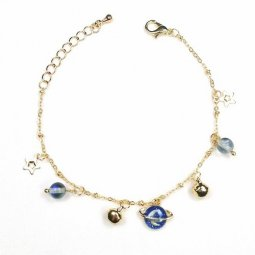 B-ASE-5110 - Gold Classic Two Star Blue Moon Bracelet