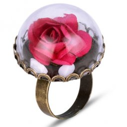 A-HP-17031602rp Rose Pink Rose Beauty & The Beast Vintage Ring