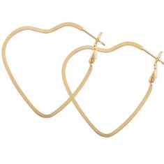 A-QD-E1512g Gold Heart Hoop Elegant Dinner Korean Earstuds