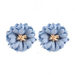 a-MY-0103 Powder Blue Summer Flower Korean Inspired Earstuds
