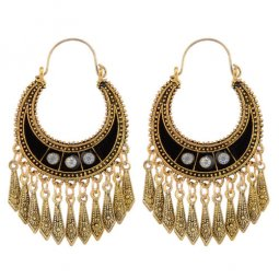 A-ZL-e97vintage Golden Vintage Antique Dangling Hook Earrings