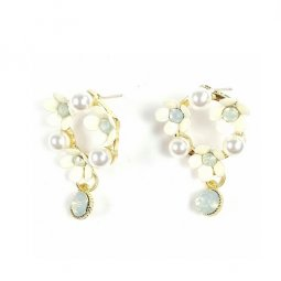 A-TT-752 Pearl And Pearl Flower Clara Earrings Malaysia