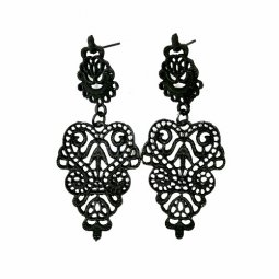 A-SQ-ES0214 Black Eligent Indian Design Hot Selling Earstuds