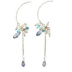 b-msy-0011 Blue Sky Hook Earring Korean Style Fashion