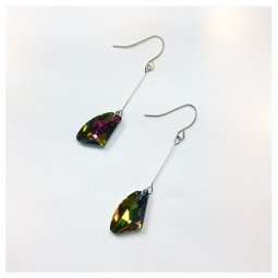 A-LG-ER0421(mix) Colorful Hologram Diamond Shape Korean Hooks