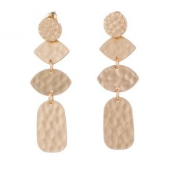 A-HH-E021036gold Gold Pieces Circle Oval Tangling Earstuds