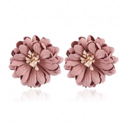 a-MY-0102 Dusty Pink Summer Flower Korean Inspired Earstuds
