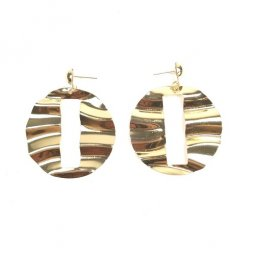 a-uk-101 Gold Crumpled Korean Earrings Malaysia
