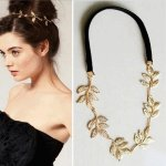 A-ZL-F23 P91255 Gold rose headband korean hair accessories kl