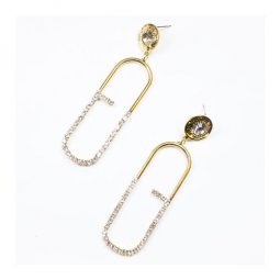 A-UK-002 Glamorous Pin Shaped Earstuds With Crystal Beads