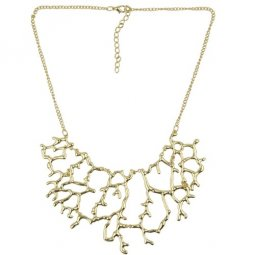 A-H2-X100 Gold tree elegant statement necklace wholesale malaysi