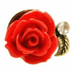C11030882 Red rose chunky ring malaysia korean accessories shop