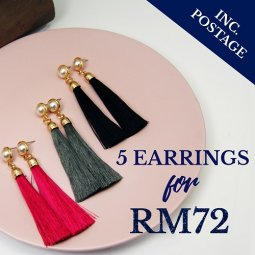 Earrings - 5 Pairs ( Choose Any 5 Earrings Designs)