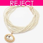 RD0051- Reject Design- Pearl Short Choker Necklace