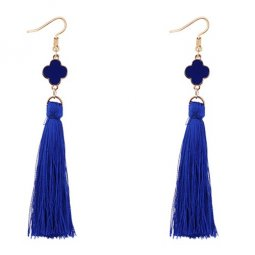 P127549 Blue Clover Elegant Dinner Tassel Earrings Shop