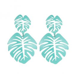 A-JW-11297 Trendy Simple Summer green turquoise Leaves Fashion