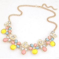 C110226104 Colourful Spring Rose Gold Choker Necklace Malaysia