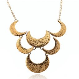 A-SJC-N0012 Triple layer vintage statement necklace wholesale sh