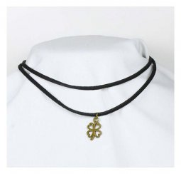 A-Tattoo-008 Clover Shape Charm Choker Necklace Fashion Shop