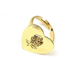 B-ASE-6434-2- Gold Classic Love Small Rose Ring