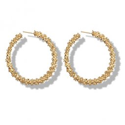 A-yg-sku4272 Gold Crystals Blings Vogue Hoop Korean Earstuds