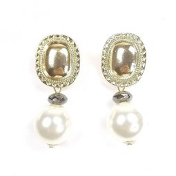 A-SD-XL0655white White Gold Pearl Statement Earrings Malaysia